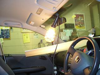 車内を明るく